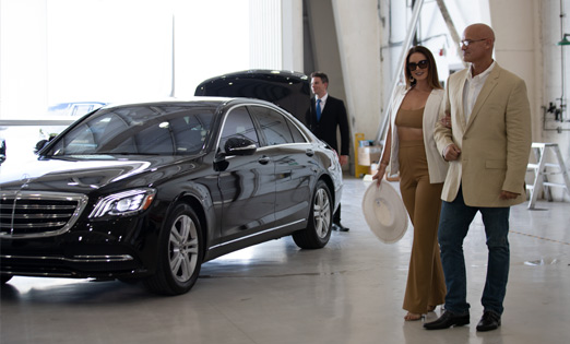 Your choice of luxury car service to get to FBOs