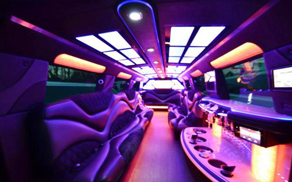 Stretch Limousine with Laser Lights Show